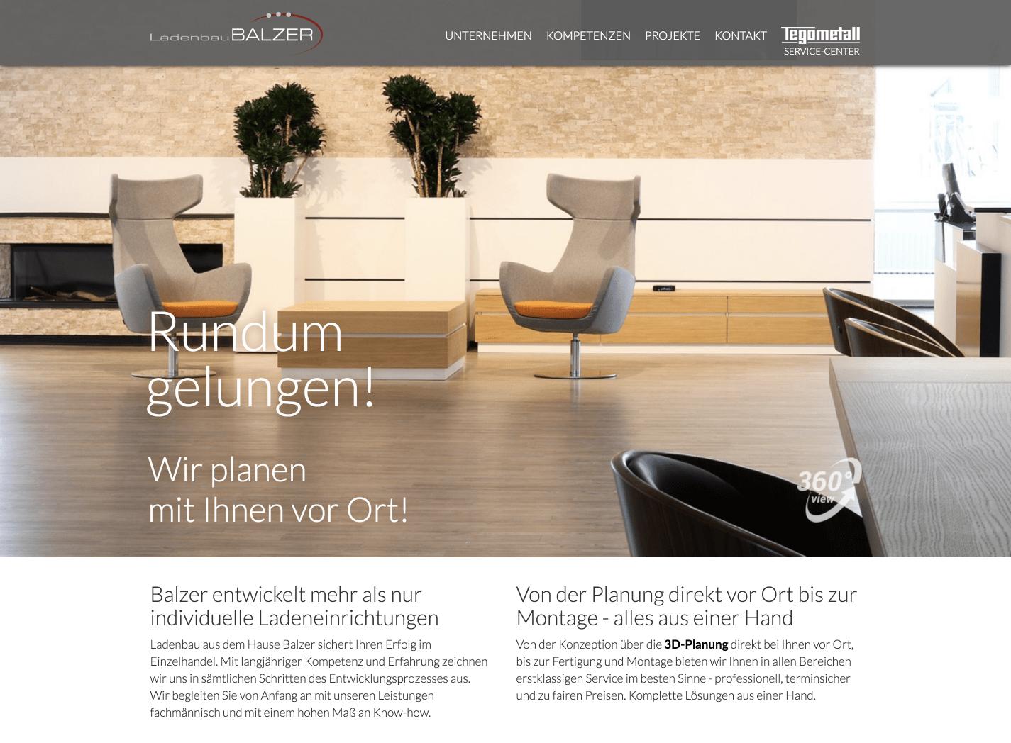 Corporate Website Relaunch für Ladenbau Balzer GmbH 15