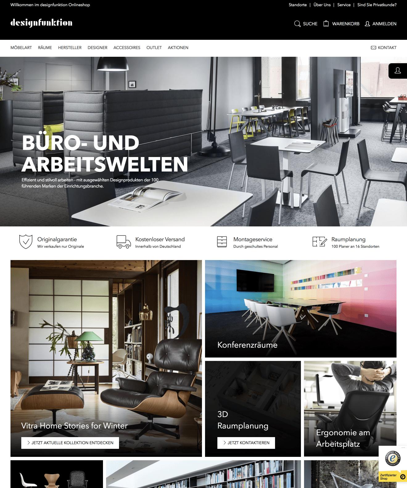 Magento E-Commerce System - Online Shop Relaunch für Designfunktion GmbH 3