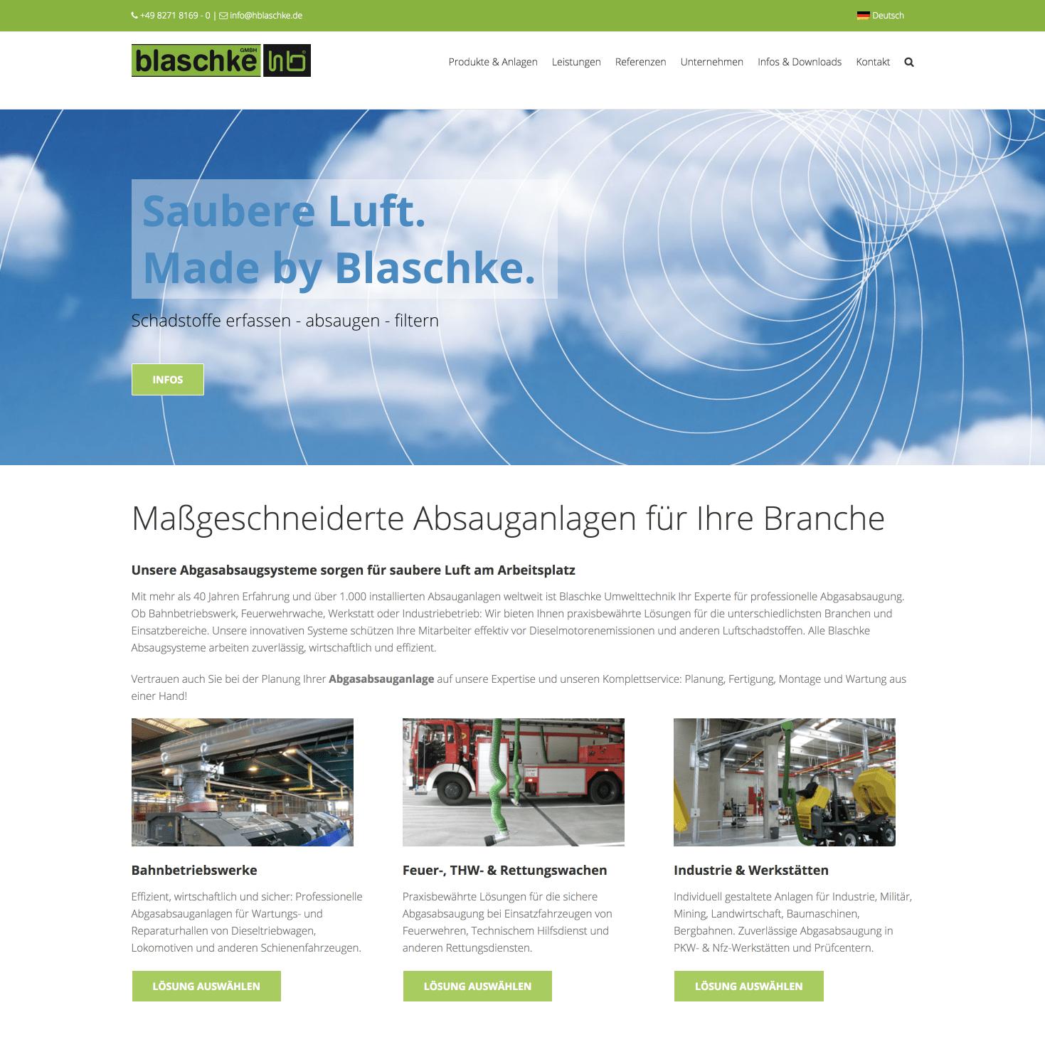 Performance optimierte Wordpress Website für Blaschke Umwelttechnik GmbH 14