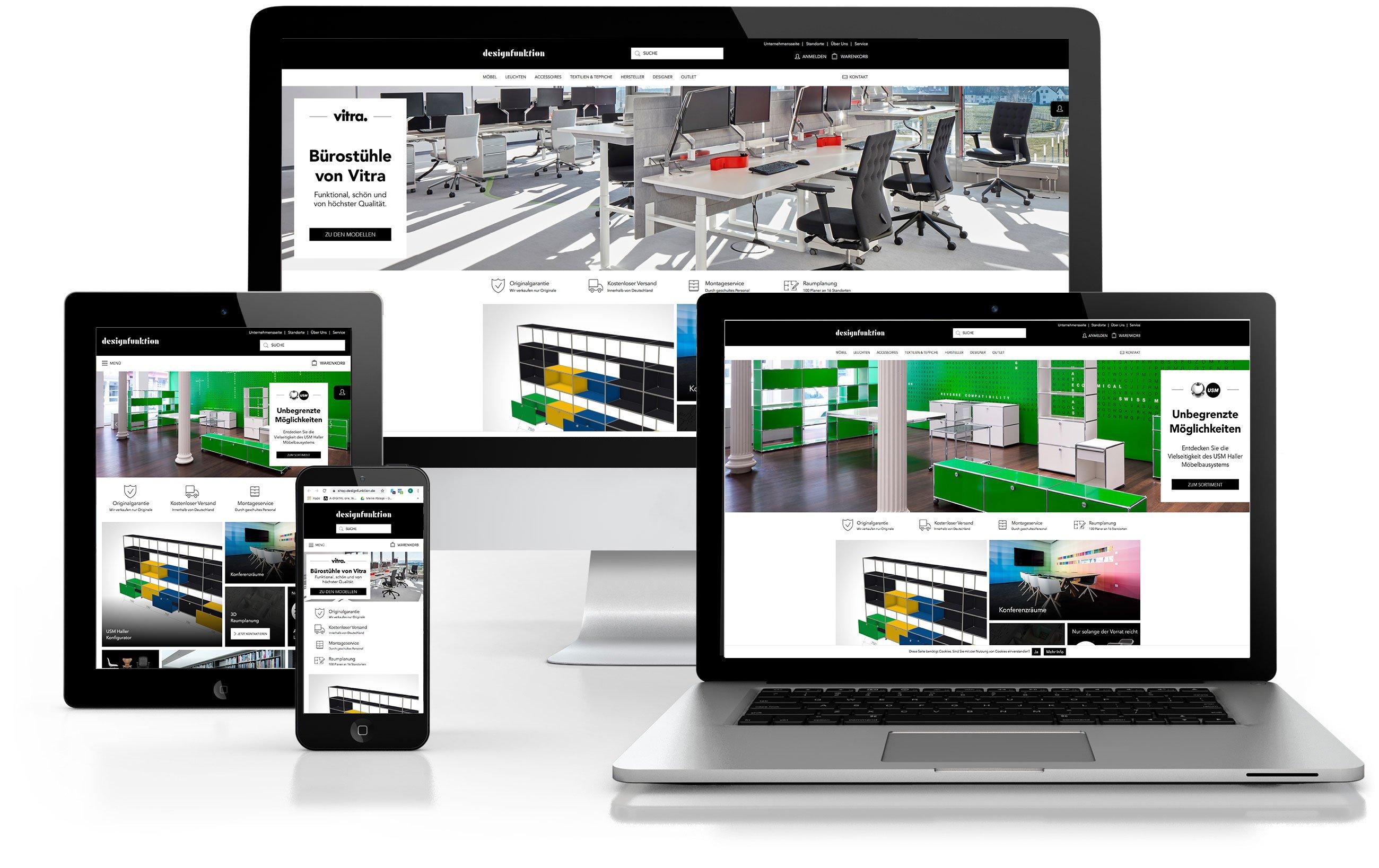 Shop Designfunktion mit Magento als Shop Lösung, A-DIGITAL one