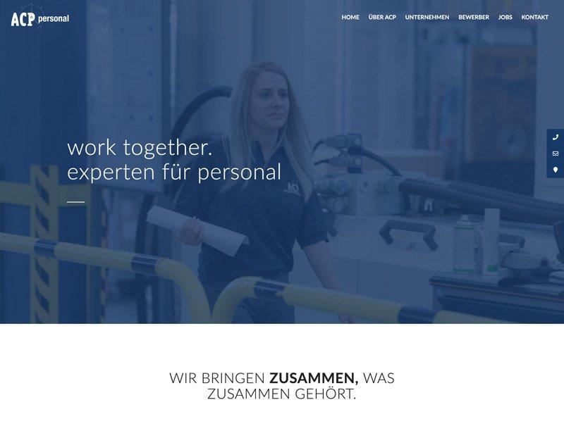 ACP Website Relaunch - Customized Wordpress Programmierung / A-DIGITAL one