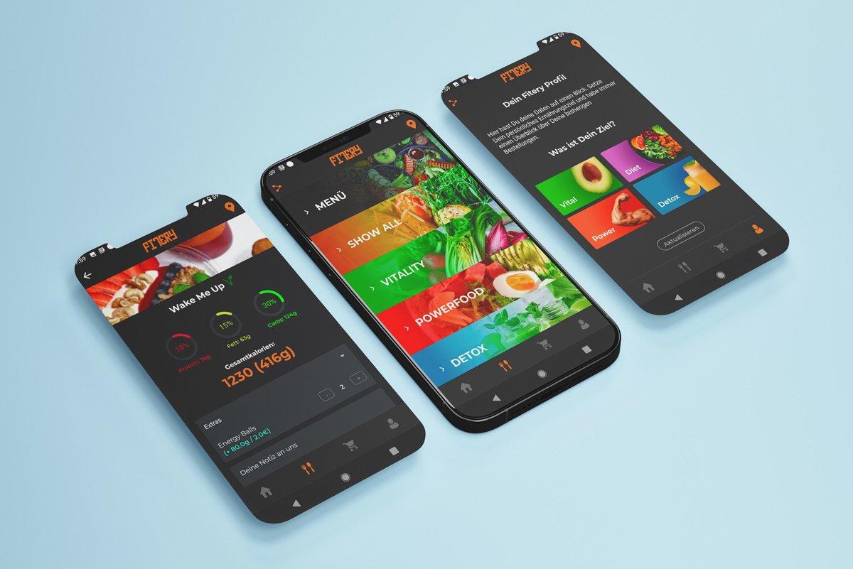 IOS und Android App für FITERY 3
