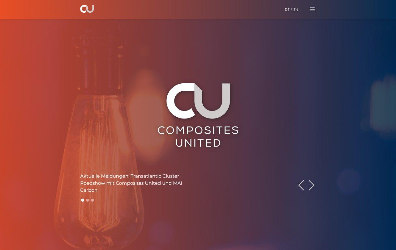 Launch der neuen Corporate Website für Composites United e.V. - Customized Wordpress Enterprise Lösung 1