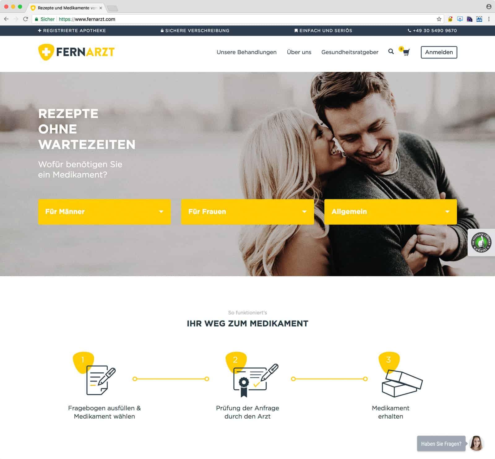 WooCommerce Online Shop - Advanced WooCommerce System für Hitfox - Fernarzt 13
