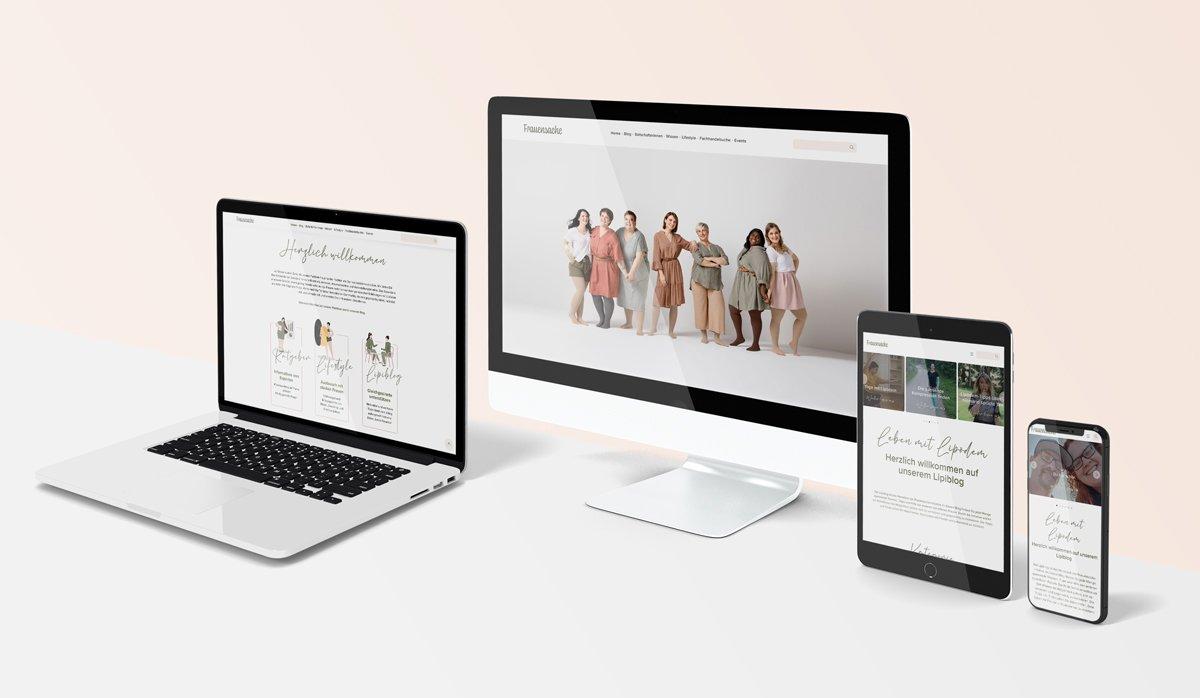 Frauensache - Plattform Relaunch für die Julius Zorn GmbH 2