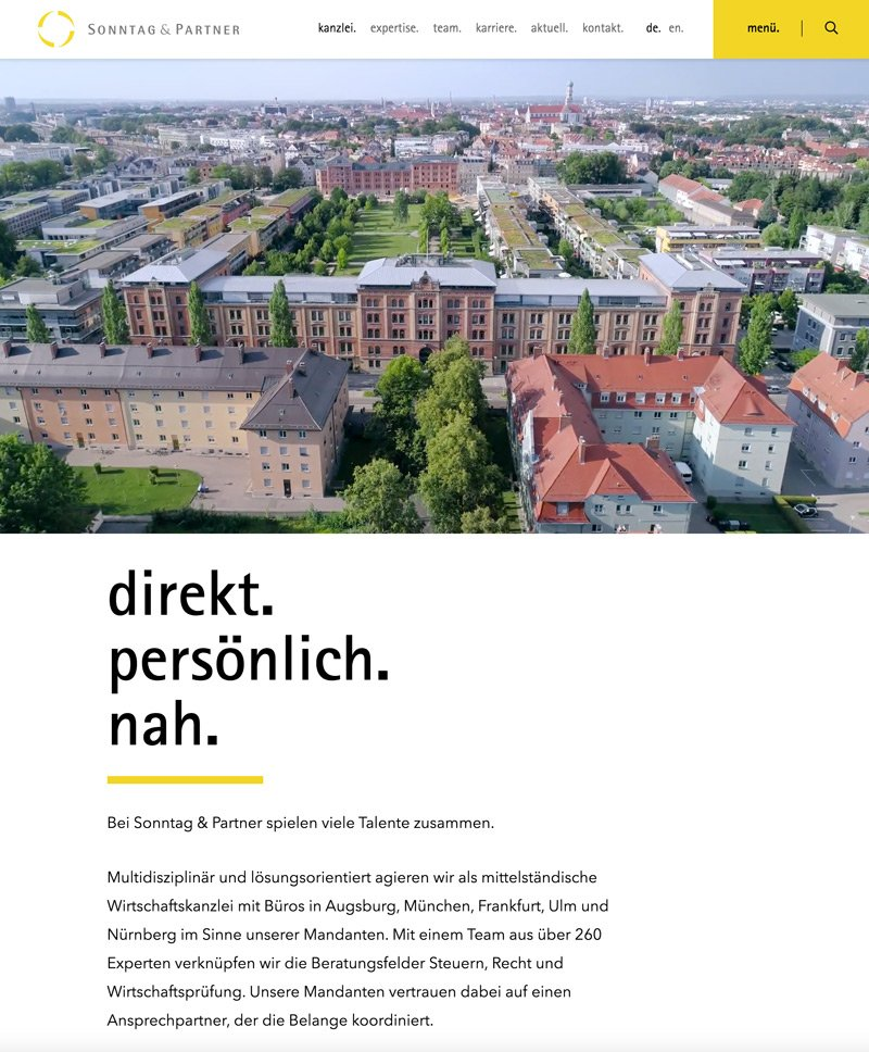 Sonntag & Partner Website Relaunch, A-DIGITAL one