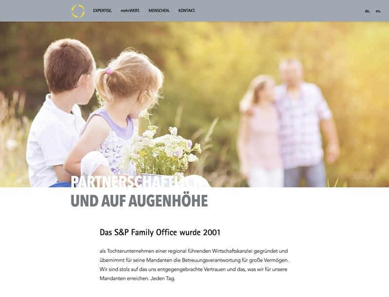 Website Relaunch für S&P Family Office, A-DIGITAL one