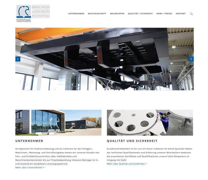 Website Relaunch Südstahl, A-DIGITAL one