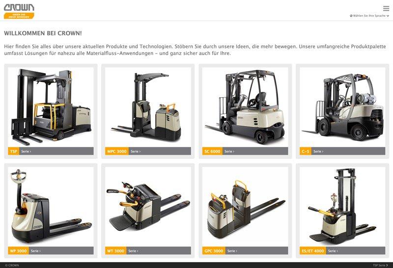 Multifunktionale universelle Hybrid App - Web Applikation für die Crown Gabelstapler GmbH 6